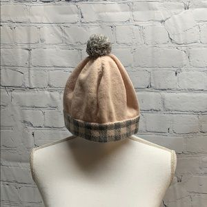 Marc Jacobs Pink & Gray Beanie